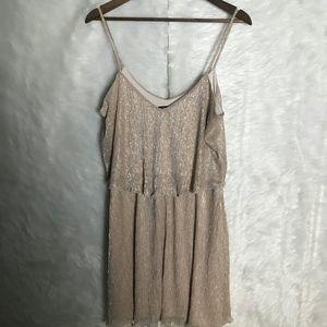 Shimmer Metallic Gold Guess Woman's size 14 Dress